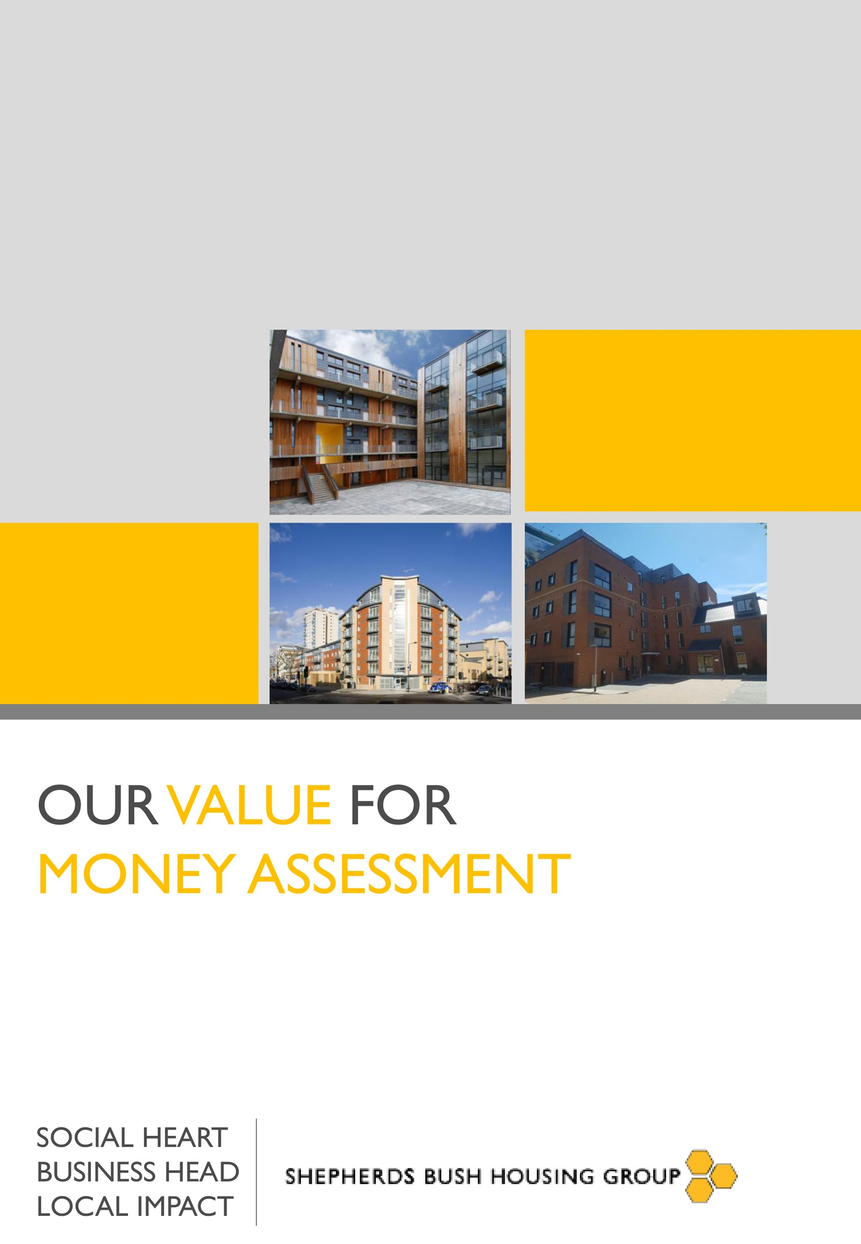 Value for Money Assessment cover