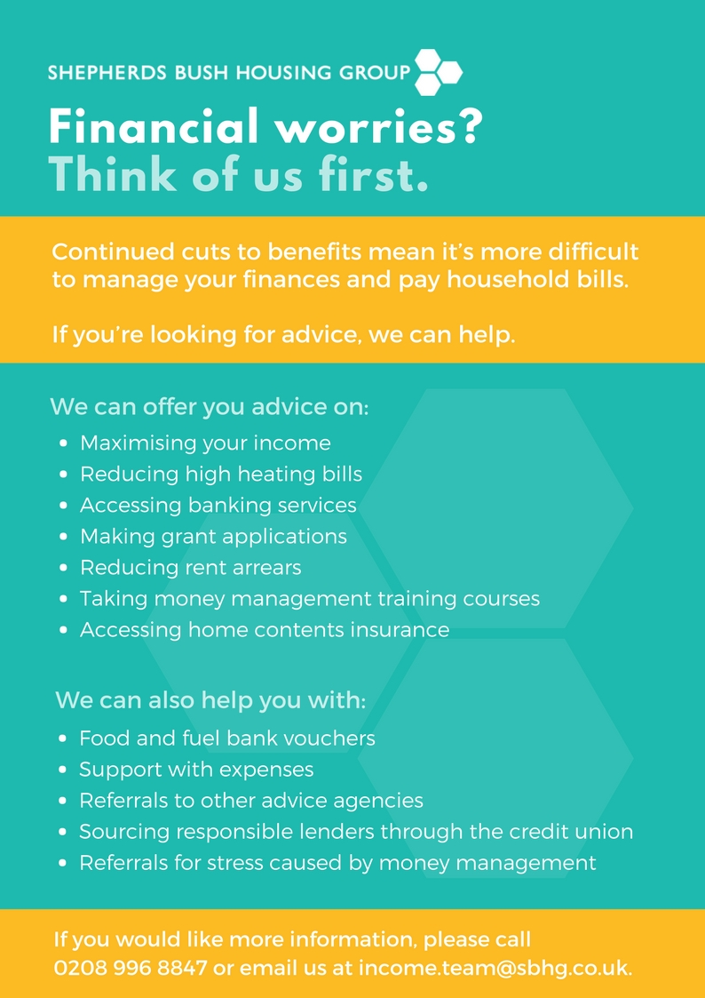 Front cover of financial inclusion offer leaflet