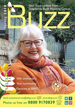 Front cover of spring 2018 Buzz