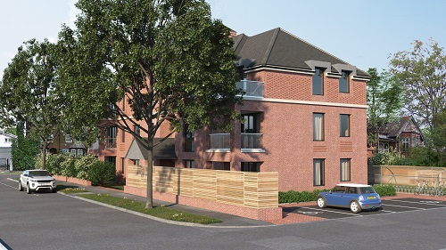 CGI of Barrowgate Road Flats