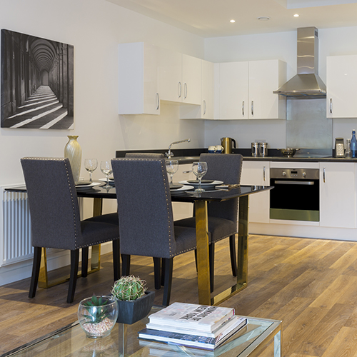 Dining Room in showroom flat